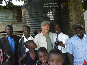 In Africa, simple solutions are helping provide much needed water. Photo Credit: Jack Rose, Raincatcher.org