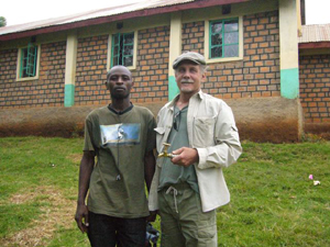 Jack Rose and Fred Mango, from Kentainers, Inc and director of Raincatcher Africa. Photo Credit: Jack Rose, Raincatcher.org